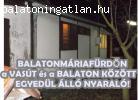 Balatonmáriafürdőn a vasút és a  Balaton között egyedül álló